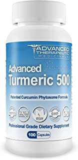 Advanced Turmeric 500 - Patented Curcumin Phytosome with Meriva - 500 mg 100 Vegetarian Capsules NO GMO, Made in USA - 3 Pack