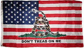 Ant Enterprises 3x5 USA American Gadsden Don't Tread On Me Flag 3'x5' Banner Brass Grommets