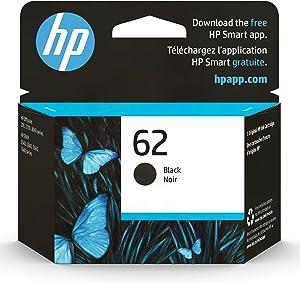 HP 62 | Ink Cartridge | Black | Works with HP ENVY 5500 Series, 5600 Series, 7600 Series, HP OfficeJet 200, 250, 258, 5700 Series, 8040 | C2P04AN