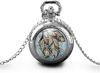 """Collana orologio da taschino - orologio da tasca, cabochon""""the dream catcher"""", Regalo di Natale - idea regalo - regalo mog..."""