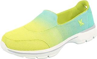 KazarMax Women's Lemon & Turquoise Slipon's Walking Sneakers/Shoes