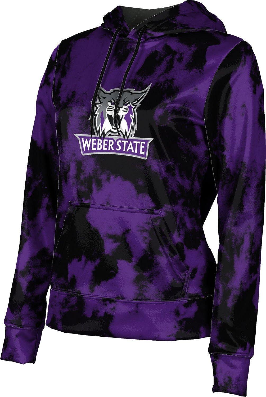 Weber State University Girls' Pullover Hoodie, School Spirit Sweatshirt (Grunge)