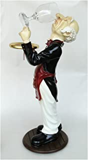 The King's Bay 2' Tall Butler snobby Statue Wine Waiter with Glass in Tuxedo Restaurant bar