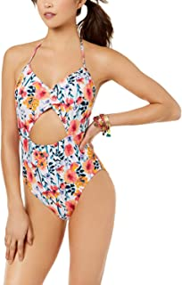 Hula Honey in Such a Fleury Floral Print Cut Out One Piece Bathing Suit