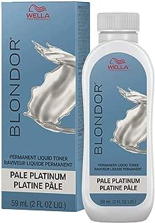 Wella Blonder Permanent Liquid Toner - Pale Platinum 2oz