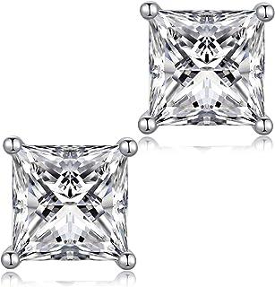 jiamiao Orecchini a lobo 925 orecchini d'argento per le donne, AAAAA+ zircone diamante earrings orecchini d'argento per le...