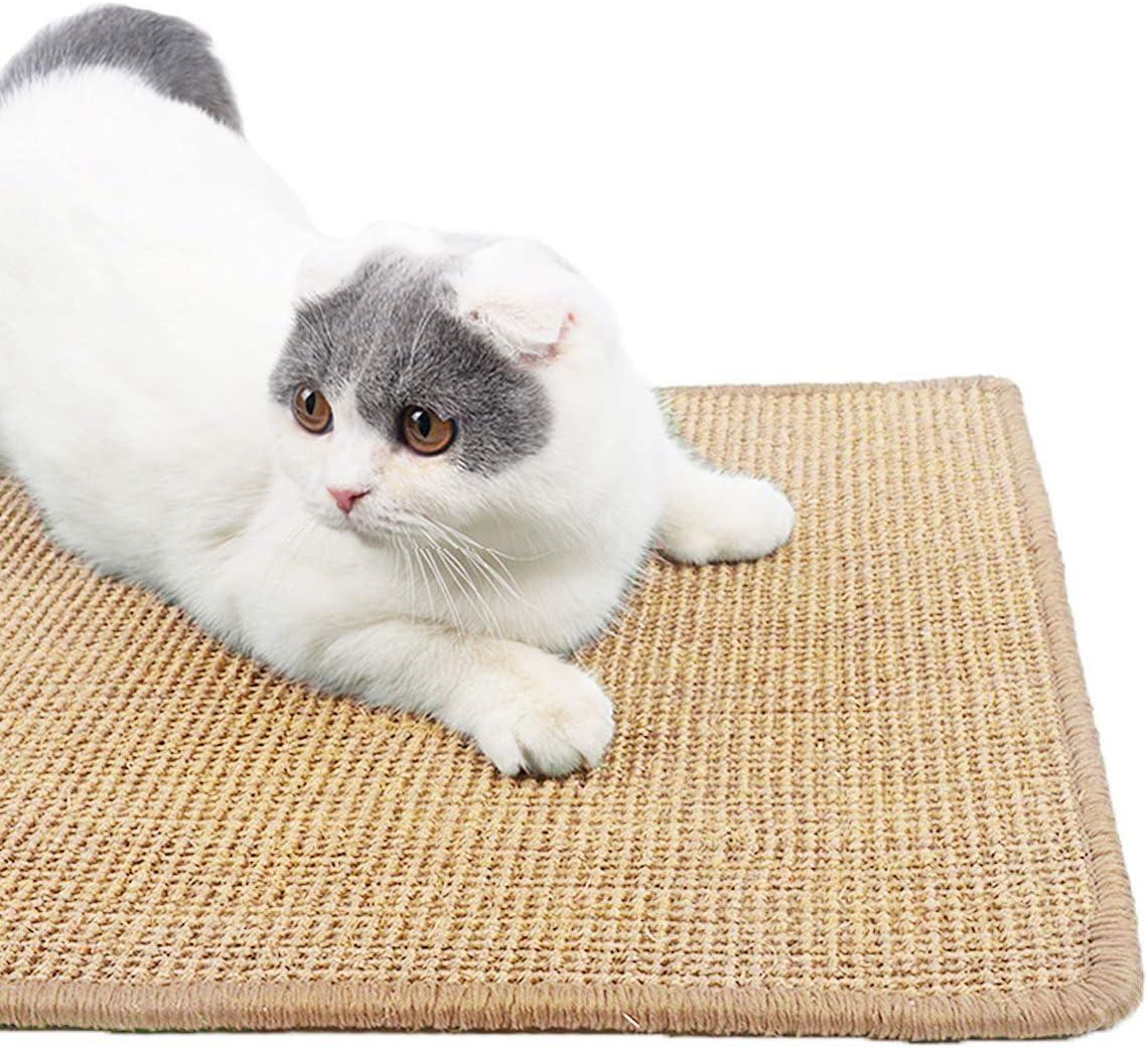 Adorrable Durable Cat Scratching Max 48% OFF Washington Mall Sisal Mat Training Natural