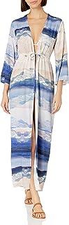 Women's Adjustable Front Tie Kimono Dress Swimsuit Cover Up