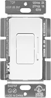 ENERLITES Low Voltage Slide Dimmer Decorator Switch, On/Off Rocker, for 0-10V LED and Fluorescent Fixtures, Single-Pole or 3-Way, UL Listed, 51300L-W, White