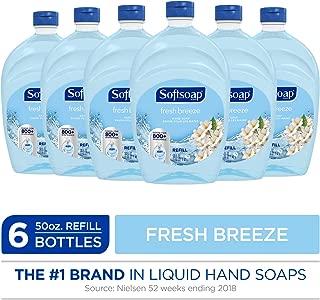 SOFTSOAP Liquid Hand Soap Refill, Fresh Breeze, 50 Ounce Bottle, Bathroom Soap, Bulk Soap, Premium Scented Hand Soap