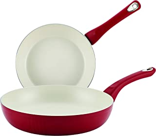 Farberware 16482 New Traditions Skillet Set, 8 & 10-Inch, Red Speckle