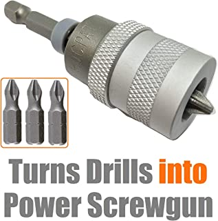 ELECTRIC DRILL to SCREWGUN CONVERTER Adjustable Clutch Drywall Tool Screw Depth Setter..