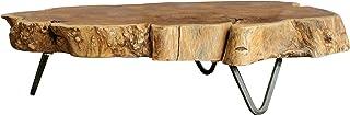 Creative Co-Op Raw Edged Wood Slab Tray with Metal Feet