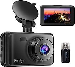 """ضبط کننده دوربین Dash Cam 1080P FHD DVR Car Dashboard Camera Recorder 3 """"LCD LCD 170 ° Angle Wide، Super Night Vision، G-Sensor، WDR، Monitor Parking، Loop Recording، تشخیص حرکت در نسخه جدید"""