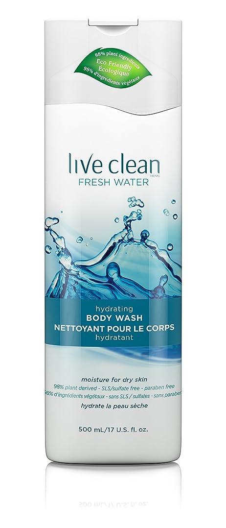 結婚好奇心盛三角形Live Clean Fresh Water Hydrating Body Wash, 17 oz.