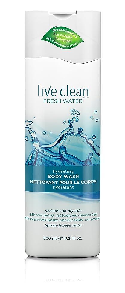 充電批判チョコレートLive Clean Fresh Water Hydrating Body Wash, 17 oz.