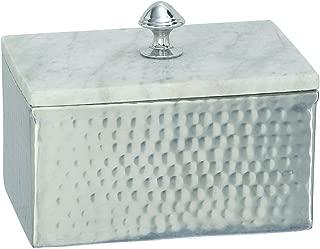 Deco 79 49685 Aluminium Marble Rectangle Box, 7