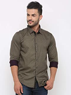 SHOWOFF Men Printed Casual Multi-Colored Shirt
