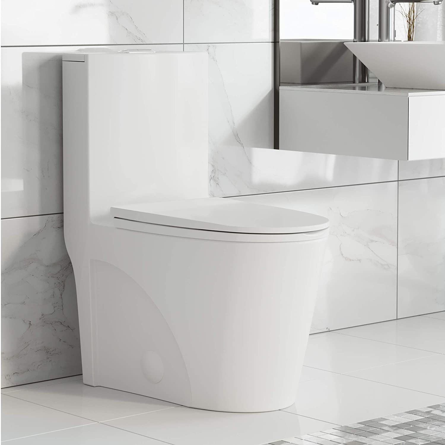 Swiss Madison Well Made Forever SM-1T254 St. Tropez One Piece Toilet, 26.6  x 15 x 31 inches, Glossy White : Amazon.in: Home Improvement