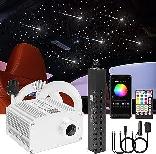 CHINLY Bluetooth Meteor 10W RGBW Twinkle LED Fibre Optique Star Plafonniers Kit APP / Télécommande Mixte 408pcs * 3m pour ...