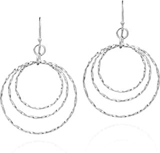 Nathis Rose Beautiful circle earring Valentines Day By Sizzling Silver