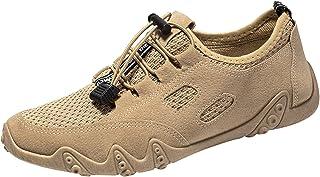 Zilosconcy Sneaker Herren Mesh Schnürschuhe Atmungsaktive Laufsohle Weicher Sohle Gym Schuhe Straßenlaufschuhe Leichtgewic...