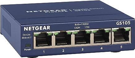 NETGEAR 5-Port Gigabit Ethernet Unmanaged Switch (GS105NA) - Desktop, and ProSAFE Lifetime Protection