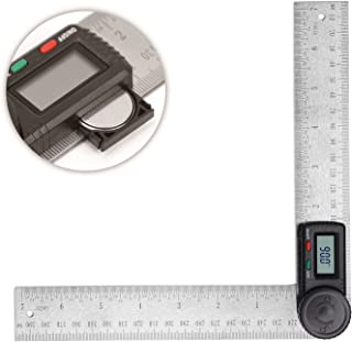 HORUSDY Digital Angle Finder Ruler,7- Inch Digital Protractor (200mm Stainless Steel Angle Gauge) - Best Unique Tool Gift for Men