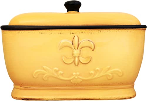 Tuscany-Colorful-Hand-Painted-Fleur-De-Lis-Yellow-Breadbox
