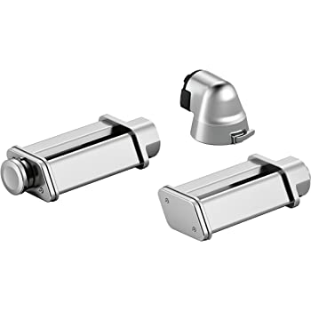 Bosch MUZ9PP1 Set para elaborar pasta casera, accesorio opcional para robots de cocina OptiMUM, Inoxidable, Acero mate: Amazon.es: Hogar