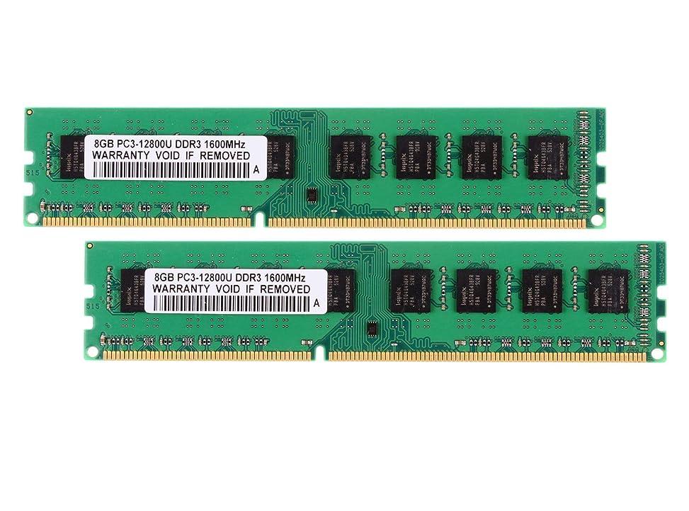 ビットまっすぐにする海嶺FidgetKute 16G 2X 8GB PC3-12800U DDR3 1600MHz CL11 DIMM デスクトップメモリー AMDチップセット専用