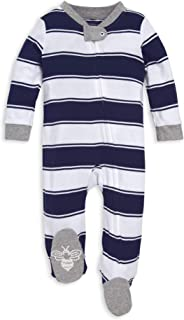 Sponsored Ad - Burt`s Bees Baby Baby Boys` Sleep and Play Pjs, 100% Organic Cotton One-Piece Romper Jumpsuit Zip Front Paj...