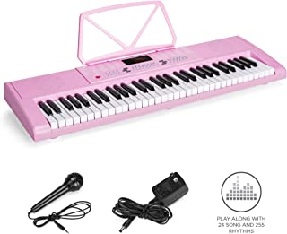 $49 Get Best Choice Products 61-Key Portable Electronic Keyboard Piano with LED Screen, Record & Playback Function, Microphone, Headphone Jack (Pink)