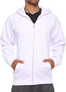 FORBIDEFENSE Men's Sweatshirt Hoodies Full Sleeve-Front Zip Premium Hood 2 Kangaroo Split Pocket