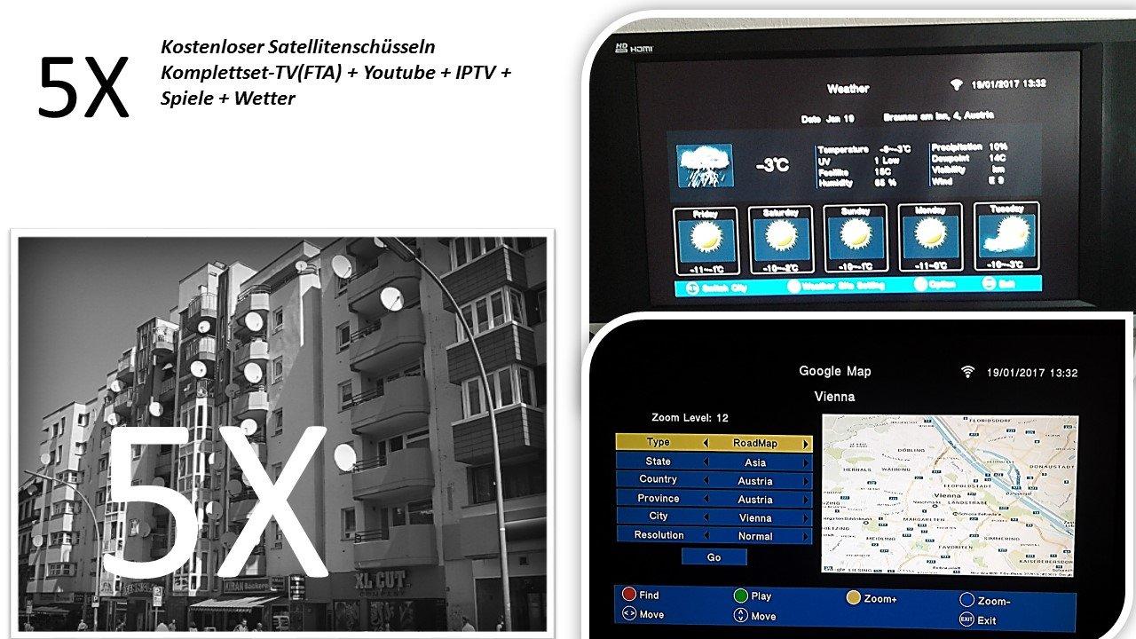 Media Link Smart Home DVB-S2 FTA IPTV FULL HDTV satélite: Amazon.es: Electrónica