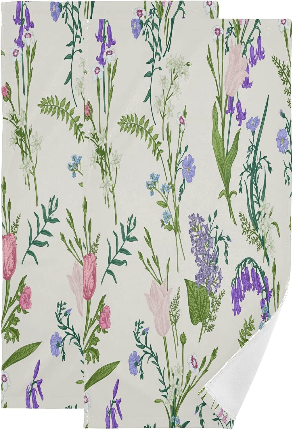 ALAZA Free Shipping New Botanical Wild Lavender Flowers Absorbent Max 48% OFF Hand Soft Towels