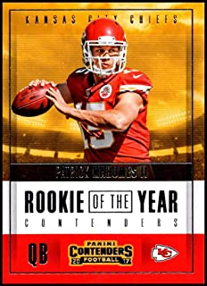 2017 NFL Contenders Rookie of the Year Contenders #3 Patrick Mahomes II Kansas City Chiefs Official Panini Football RC Trading Card
