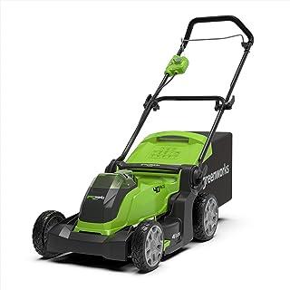 Greenworks 642504707 Cortacésped Operado G40LM41 (Li-Ion 40 V 41 cm Ancho 600 m² 2-in-1 Desbroce y Siega 50l Capacidad Altura Corte Central 5 Posiciones Sin Cargador y Batería)