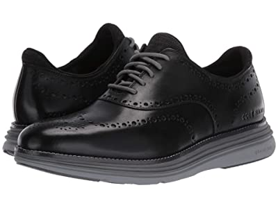 Cole Haan Original Grand Ultra Wing Ox (Black Leather/Quiet Shade/Sleet) Men