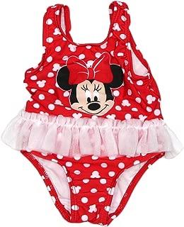 NEW Disney Minnie Mouse Polka Dot /& Flower 1Pc Girls Swimsuit Sz XXS 2//3