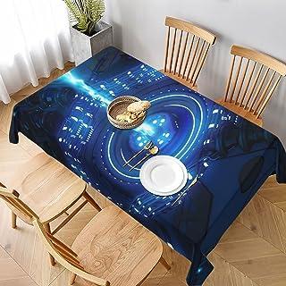 Beam Laser Glow med hörlurar rektangel bordsduk bröllopsfest matsal picknick kök tvättbart bordsskydd dekoration, 152 B x ...