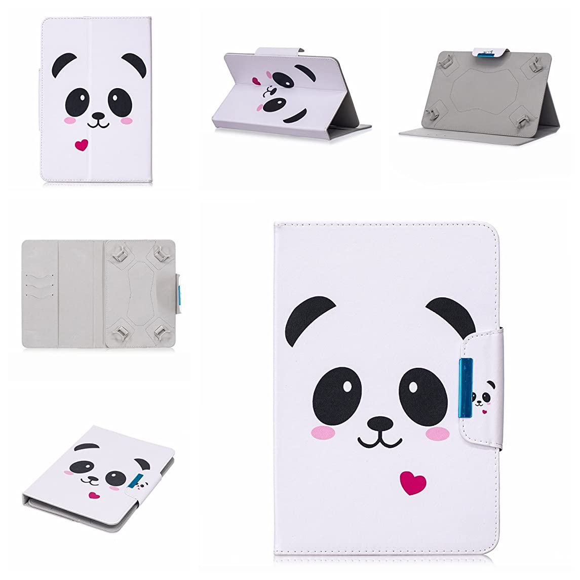 Uliking Universal Case for 8 inch Tablet, Slim PU Leather Folio Stand Cover with Magnetic Closure Cards Slots for 7.5