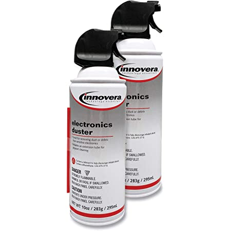 Innovera 10012 Compressed Air Duster Cleaner, 10 oz Can, 2/Pack