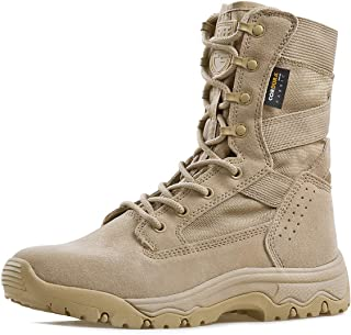 Men's Tactical Boots 8 Inches Lightweight Combat Boots Durable Suede Leather Military Work Boots Desert Boots