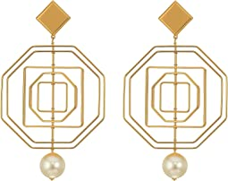 Tory Burch - Geo Pearl Statement Earrings