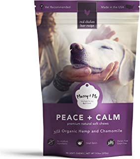 Mazey & Me Peace and Calm Premium Natural Soft Chews | Pet Relief for Dog Anxiety, Barking, Separation, Dog Stress Relief ...