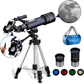 MAXLAPTER Refractor Astronomy Telescope for Kids Beginners Teenagers, Dual-Use with 43 inch Tripod Smartphone Adapter Port...