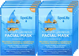 SpaLife Hydrating, Purifying, Anti-Aging, Detoxifying and Soothing Korean Facial Masks - 10 Masks (Bee Venom + Shea Butter + Manuka Honey)