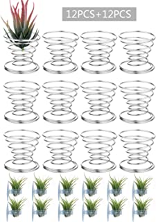 BELLARMOR Air Plant Holder - 24 Pieces Tillandsia Air Plants Stand Containers Display Racks for Tabletop and Window Decorations (M)