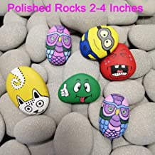 Bingo Castle Rocks for Painting kit for Kids, Smooth Polished Flat Kindness River Rocks for Painting Rock Art Supplies Crafts for Kids Age 8-12, 2-4 inches Bulk